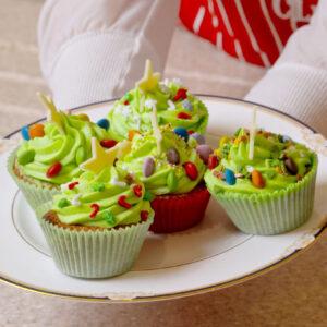 12 – Christmas Tree Cupcakes